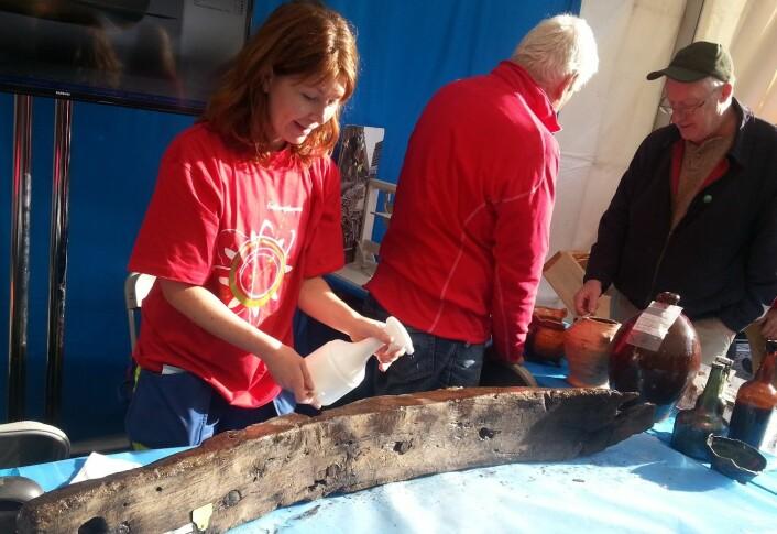 Line Cecilie Hobberstad er arkeolog ved Norsk maritimt museum, tidligere kjent som Sjøfartsmuseet. (Foto: Nina Kristiansen)