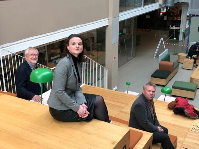 Truls Norby, Catherine Banet og Vebjørn Bakken diskuterer hydrogen som klimaløsning i podcasten Universitetsplassen.