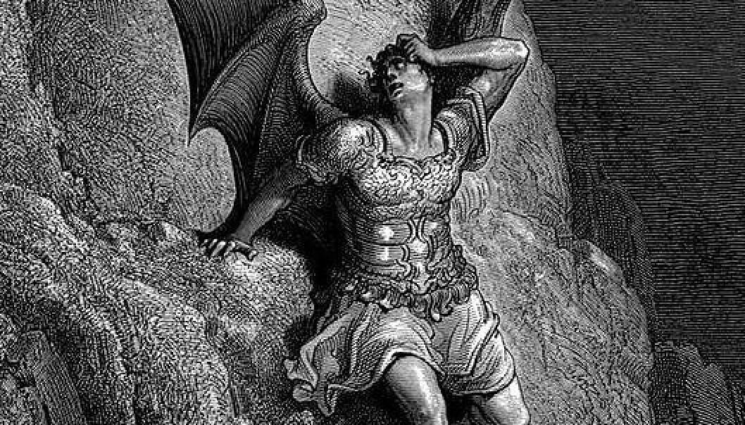 Gustave Dorés fremstilling av Satan fra John Miltons Det tapte paradis. (Illustrasjon: Wikimedia Commons, se lisens her.)
