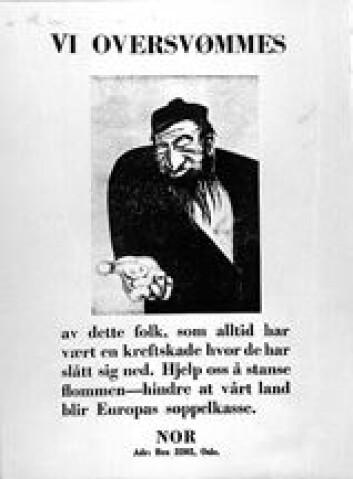 """""""I november 1938 gjennomførte unger aktivister med bakgrunn i NNSAP og NS en plakataksjon i Oslo. Hovedmannen ble stil for retten, men frikjent da man egentlig ikke hadde """""""