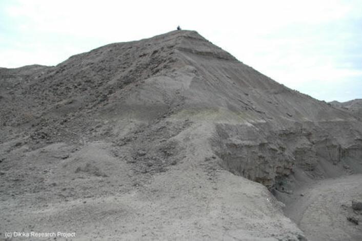De to dyreknoklene ble funnet i denne skråningen i Afar-regionen i det nordlige Etiopia. (Foto: Dikika Research Project)