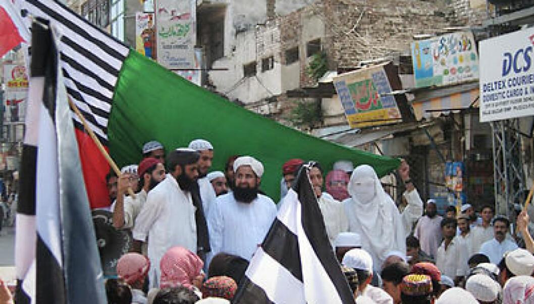 Islamister som demonstrerer mot myndighetene i 2007. (Foto: David Hansen)