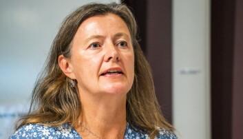 Kari Olrud Moen i Høyre, her i en debatt i 2020.