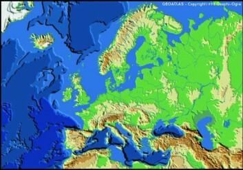 Kunnskapen fra grunnforskingsprosjektet SUBMAR var sentral da Norge fikk utvidet den økonomiske sonen med 10 prosent. (Foto: Geoatlas: World Bump)