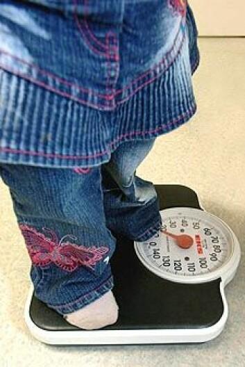 Nesten 14 prosent av alle norske barn er overvektige. (Illustrasjonsfoto: www.colourbox.no)