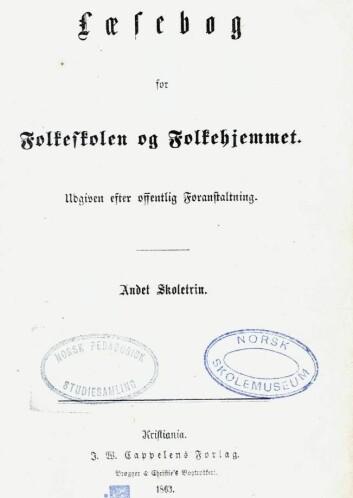 P.A. Jensens Læsebok for folkeskolen og Folkehjemmet.