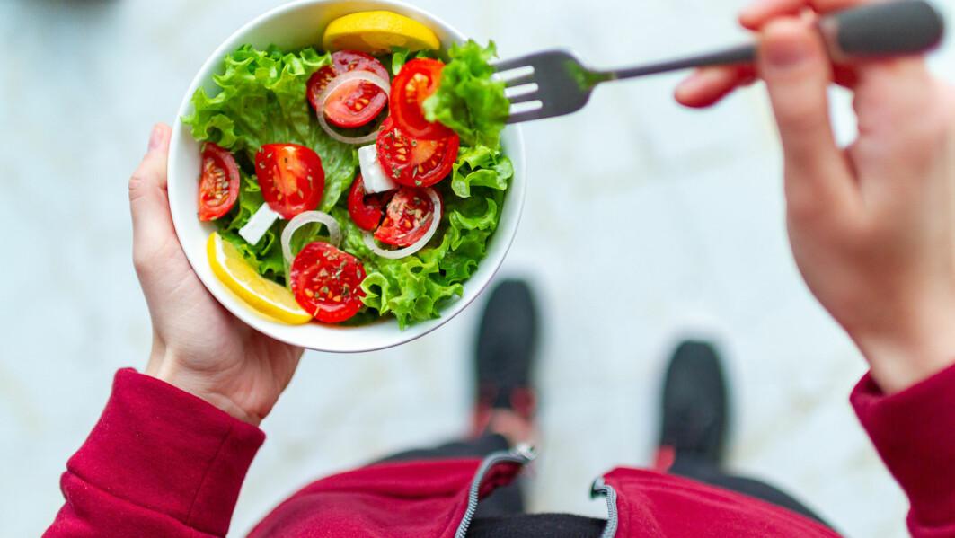 Mange sverger til vegetarisk mat, og det heter seg at det er bra også til trening. Men det har sine begrensninger, særlig om du skal yte mye.