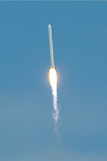 Flacon 9 skytes opp 4. juni 20:45 norsk sommertid (Foto: Matthew Simantov, Creative Commons Attribution 2.0 Generic licence)