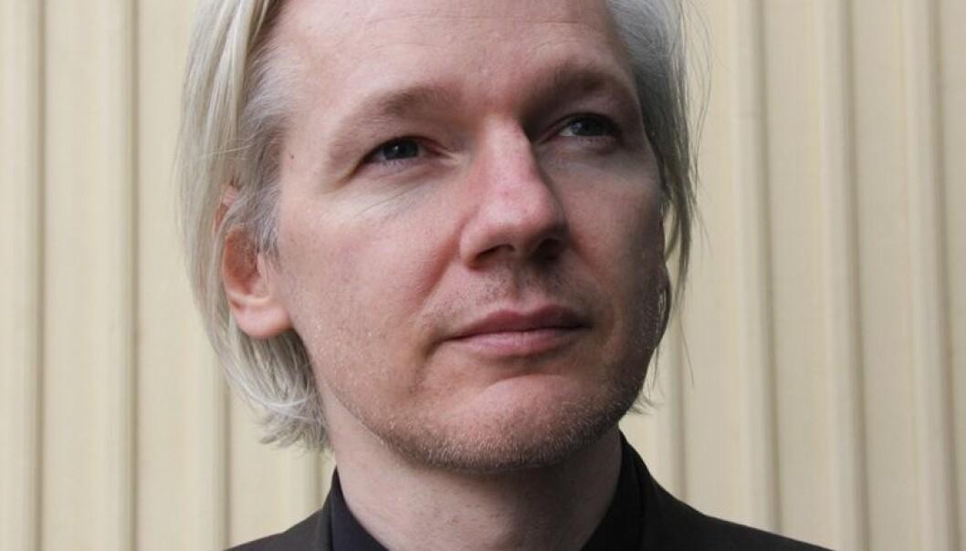 Julian Assange, da han var på den norske SKUP-konferansen for undersøkende journalistikk i mars i år. (Foto: Espen Moe. Se lisens)