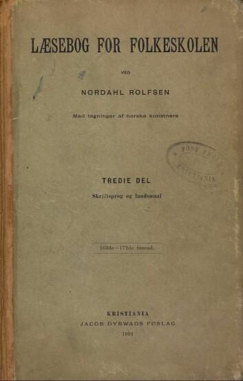 Læsebog for Folkeskolen av Nordahl Rolfsen.