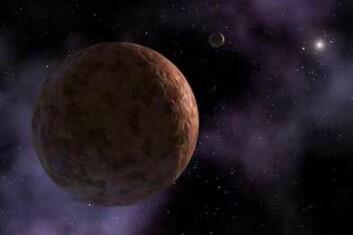 Sedna går i en litt utypisk bane mellom Kuiper-beltet og Oort-skyen. Kan den være påvirket av tyngdekraften til en annen planet? (Illustrasjon: NASA)