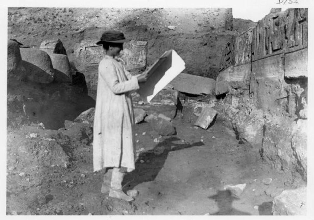Hilda Petrie og ektemannen William var de første som forsto at tegnene i Serabit el-Khadim kan ha vært utgangspunktet for bokstavene våre.