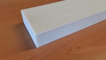 Fleksible skumplater for tekniske installasjoner laget av resirkulert plast.