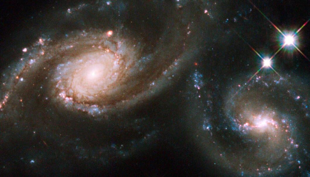 Kolliderende galakser vant