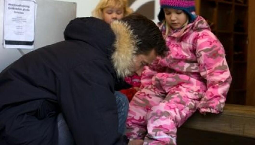 For deltidspappaer er det viktig å ta del i hverdagen til barna. (Ilustrasjonsfoto: www.colourbox.com)
