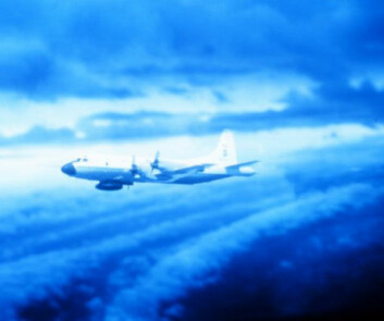 """""""Hurricane Hunters flyr rett inn i de tropiske syklonene med propellfly for å samle data. Foto: NOAA"""""""