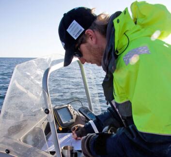 Alf Ring Kleiven har tilbrakt mye tid i båt under hummerfangststudien. GPS har vært et viktig verktøy.