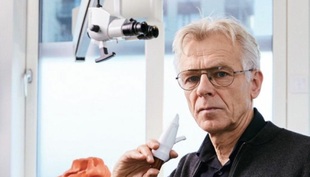 Per Gisle Djupesland er finalist til å vinne den europeiske oppfinnerprisen European Inventor Award for oppfinnelsen av et nytt nesespray-apparat.