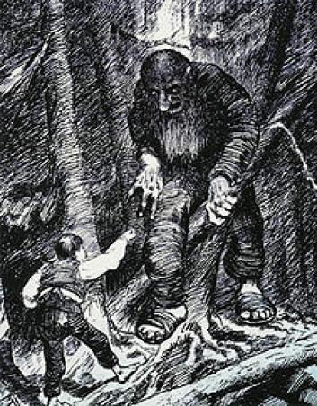 Espen Askeladd kan kaste lys over førkristen tro, i følge norrønfilolog Eldar Heide ved Senter for middelalderstudier. (Tegning: Theodor Kittelsen/Wikimedia Commons)