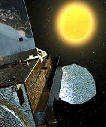 """""""Hinode ser mot sola. Illustrasjon: NASA/GSFC/C. Meaney"""""""