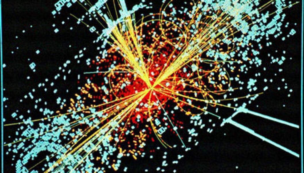 Simulering av Higgs decay i CMS-detektoren LHC, CERN.