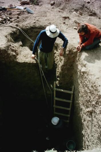 Fra utgravningene av Huajje i Peru. (Foto: Carol A. Schultze)