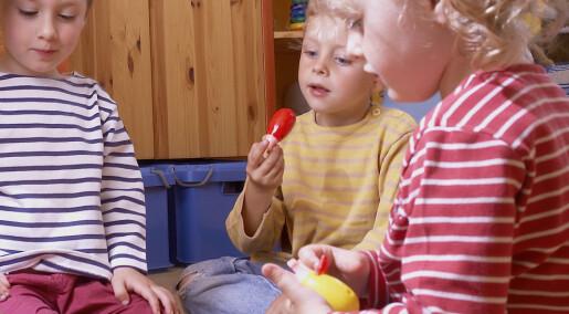 Lite forsking på barnehagar