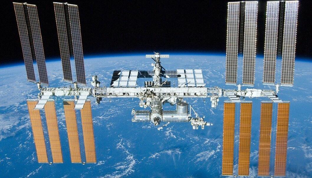 Den internasjonale romstasjonen. Hjem til blant annet astronauter og frysetørket musesæd.