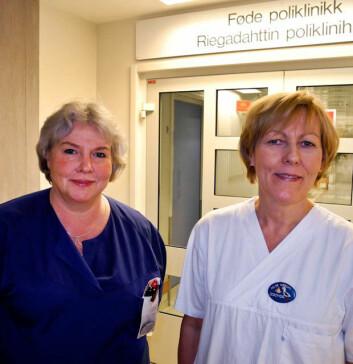 Stipendiatene Lotta Halvorsen og Hilde Nerum. (Foto: Elisabeth Øvreberg)