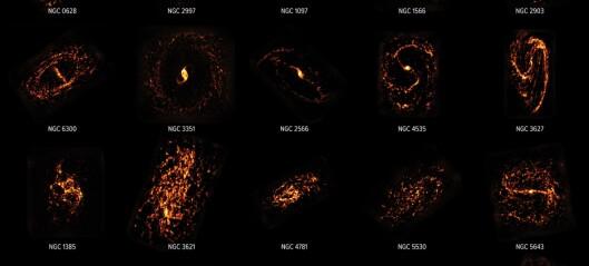 Forskere har kartlagt nesten 100 galakser for å finne stjerne-fødestuene deres