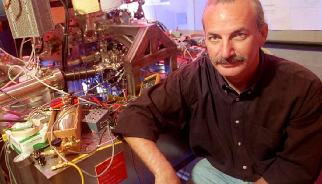 Donald M. Eigler ved IBM Almaden Research Center, San Jose, USA. (Foto: IBM)