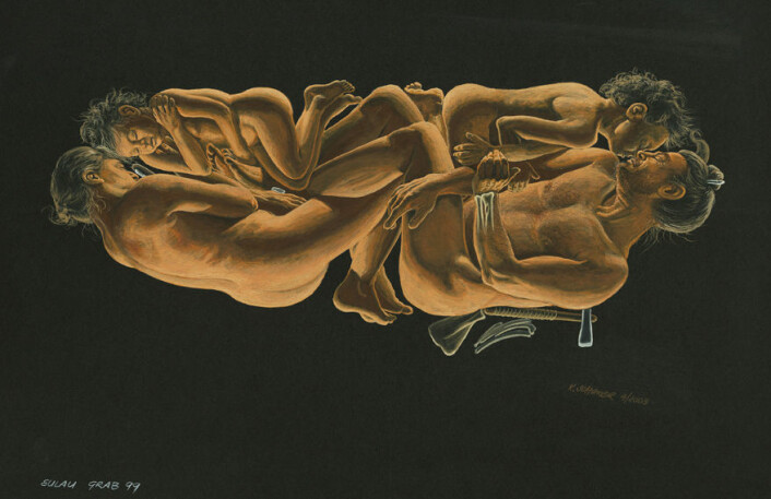 Kunstnerisk framstilling av hvordan forskerne antar familiemedlemmene så ut. Foto: Landesamt für Denkmalpflege und Archäologie Sachsen-Anhalt/Karol Schauer.