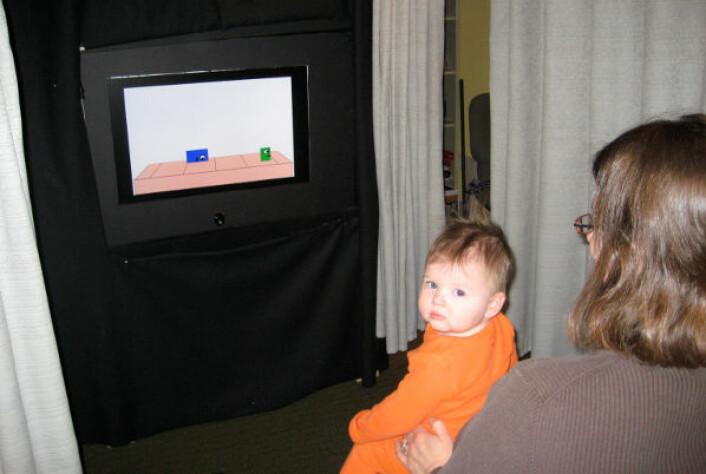 Baby deltar i eksperimentet Big and Mighty. (Foto: Lotte Thomsen)