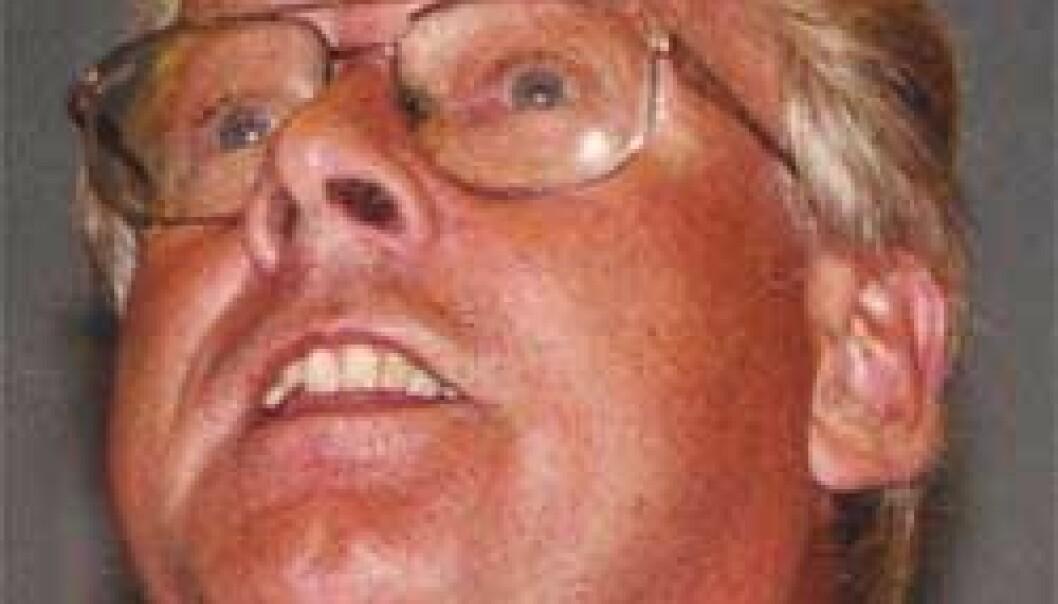 """""""Etter 25 år som eneveldig Frp-formann får denne mannen endelig litt kreditt fra Akademia. Carl I. Hagen demmer opp for mer ytterliggående krefter, sier NTNU-professor Anders Todal Jensen. (Foto: NTNU Info/Lars Kr. Iversen)"""""""