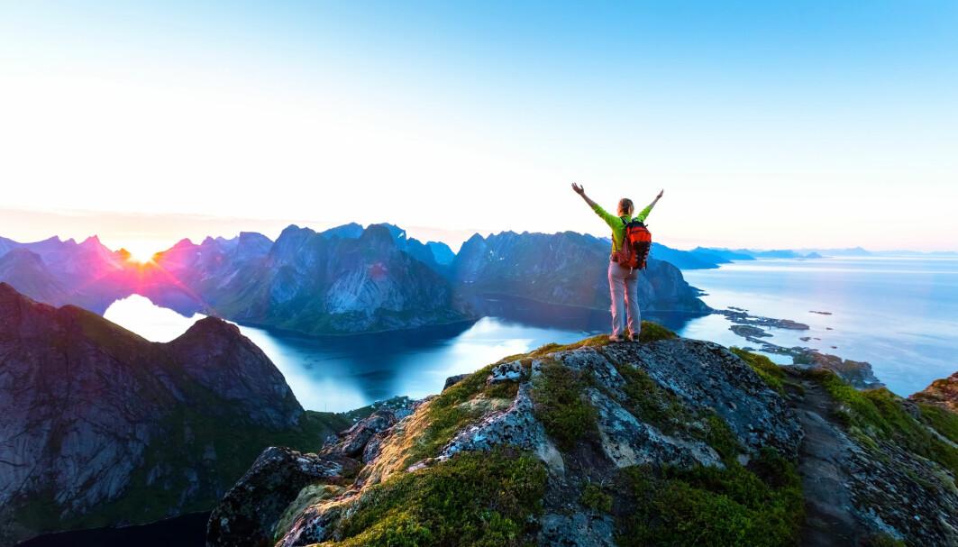 Når stiene er definert som «turistnatur», slutter lokalbefolkningen å bruke dem, ifølge Nord-professor Frank Lindberg. Bildet er fra Reinebringen i Lofoten.