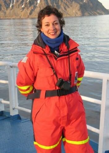 Nalân Koç ved Norsk Polarinstitutt.