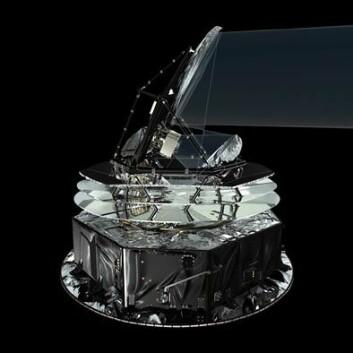Romteleskopet Planck. (Illustrasjon: ESA)