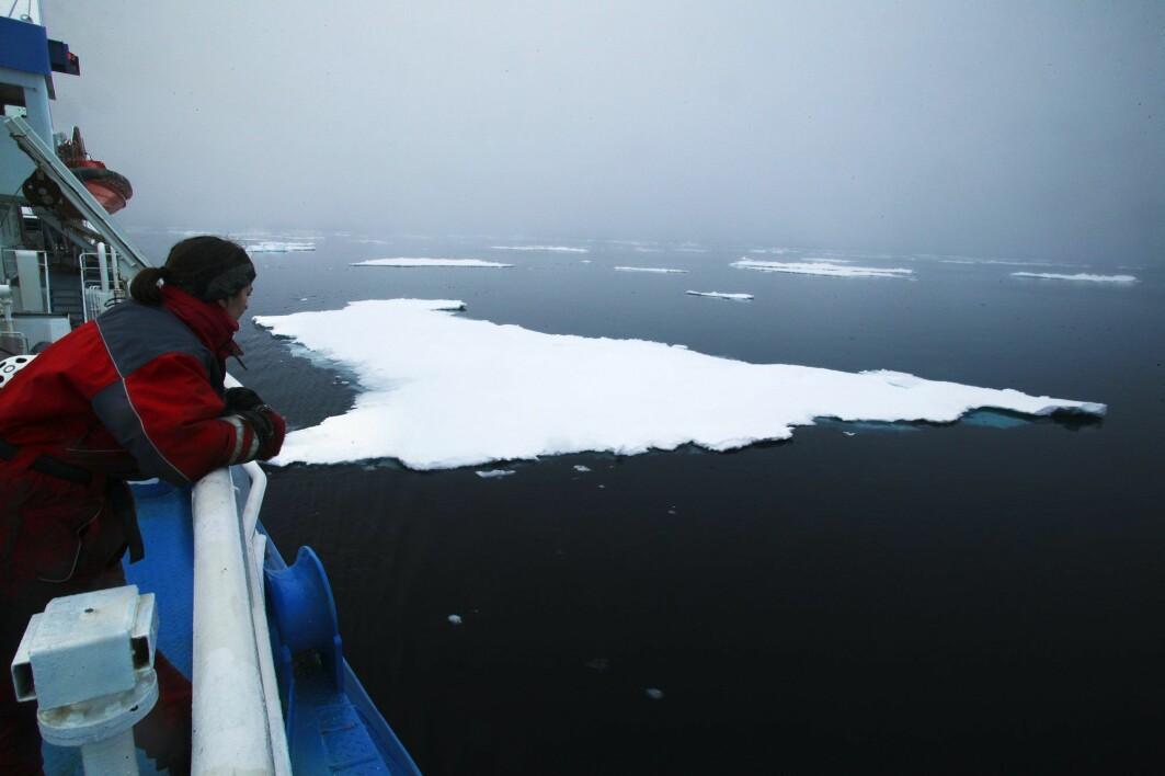 Forskere frykter at vi har passert punktet der det går an å redde sommerisen i Arktis. Her fra en klimaekspedisjon ved Svalbard.