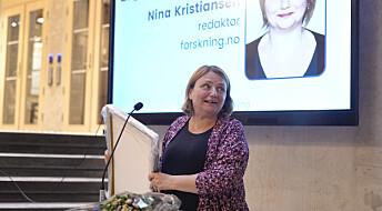 Nina Kristiansen ble kåret til årets meningsbærer av Oslo Redaktørforening
