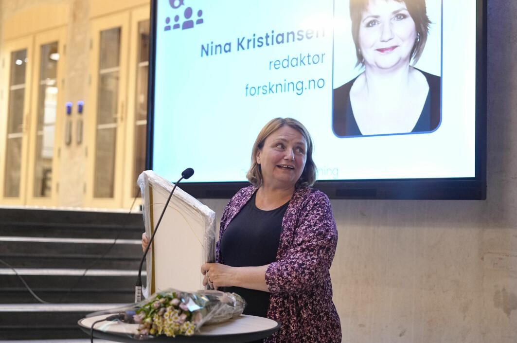 Nina Kristiansen er forskningsjournalistikkens fremste vaktbikkje, skriver juryen i sin begrunnelse for kåringen til årest meningsbærer.