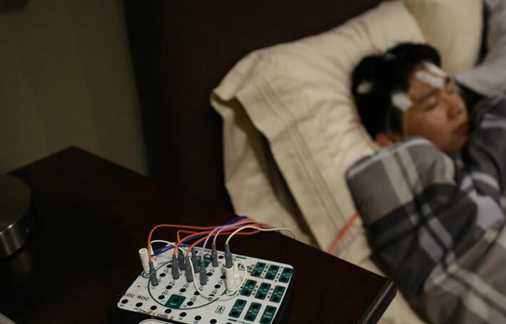 Slik fulgte forskerne med på deltakerne som sov etter at de hadde lyttet til musikk.