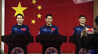 Kina sender mannskap til romstasjon