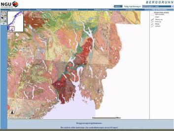 I Norge finnes svartskifer/alunskifer hovedsakelig i det geologiske Oslo-feltet, som strekker seg fra Langesund i sør til Hamar og Lillehammer i nord. (Kart: NGU Berggrunnsgeologidatabasen)
