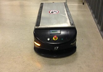 An automated box on wheels — with personality