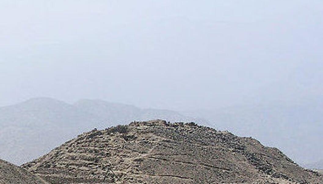 Caral-pyramidene i Supe-dalen i Peru. (Foto: Wikimedia Commons, lisens her.)