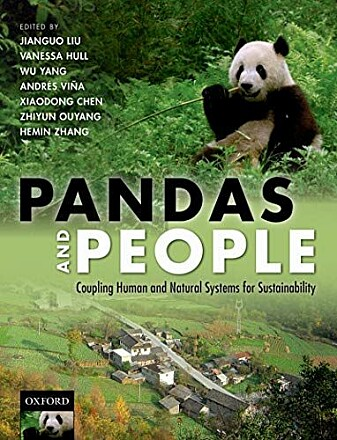Professor Jianguo Liu's efforts are wide ranging. He was one of the authors of a book about the relationship between pandas and people.