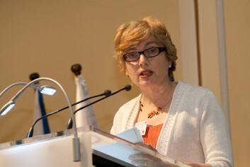Anneli Pauli Anneli Pauli, visegeneraldirektør i EU-kommisjonens generaldirektorat for forskning støttet Borchgrevink fra talerstolen på EU-konferansen i mai.