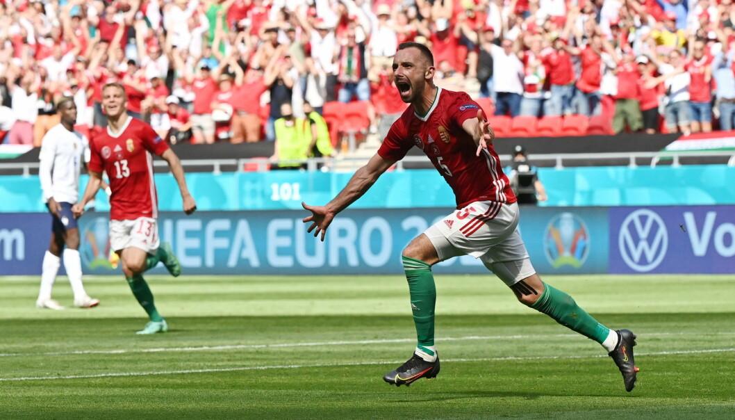 De kom nest sist i kvalifiseringsgruppen – likevel fikk Ungarn og målscorer Attila Fiola muligheten til å spille 1–1 mot regjerende verdensmester Frankrike hjemme i Budapest. Høyreback Fiola spiller til daglig for Fehérvár.