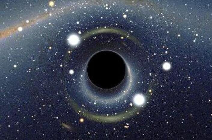 Et sort hull er en mystisk skapning som sluker alt lys. Inne i det sorte hullet senter er det en vaskeekte singularitet. (Illustrasjon: NASA)