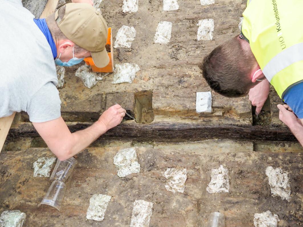 Arkeologer har jobbet med utgravingen i nesten et år.